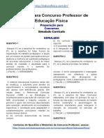 Simulado Concurso Professor de Educacao Fisica Material Gratis Concurso SEDUC Simulado Curriculo Docx