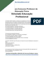Simulado Concurso Professor de Educacao Fisica Material Gratis Concurso SEDUC Simulado Educacao Profissional Docx