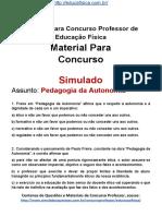 Simulado Concurso Professor de Educacao Fisica Material Gratis Concurso SEDUC Simulado Pedagogia Da Autonomia Docx
