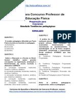 Simulado Concurso Professor de Educacao Fisica Material Gratis Concurso SEDUC Simulado Tendencias Pedagogicas Docx