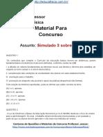 Simulado Concurso Professor de Educacao Fisica Questoes Concurso Pedagogia Simulado 3 LDB Docx