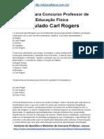 Simulado Concurso Professor de Educacao Fisica Questoes Concurso Pedagogia Simulado Carl Rogers Docx