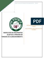 Proyecto Inspeccion de Recipientes Bajo a Presion Javier Diaz 6p