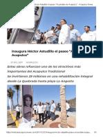 27-12-2017 Inaugura Héctor Astudillo El Paseo Acuérdate de Acapulco.