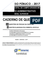 1 EA CQ Lingua Portuguesa Camara Municipal Campo Grande-MS TA NS 2017 Demonstracao