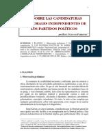 candidaturas electorales independientes
