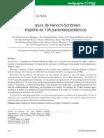 Purpura de Henoch Reporte de 105 Pacientes Pediatricos Ulti