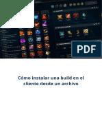 Cómo instalar una build en el cliente desde un archivo.pdf