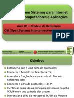 Aula 03 - VisaoGeralModeloOSI e TCP-IP