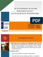 The Enterprise Systems Implementation