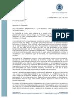Carta al presidente Enrique Peña Nieto ante grave situación en Nicaragua
