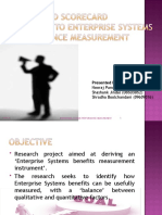 A Balanced Scorecard Approach to Enterprise Systems Performance Measurement