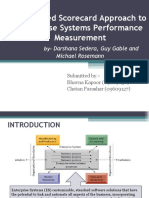 A Balanced Scorecard Approach to Enterprise Systems Performance Measurement