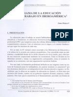 Panorama de La Educacion Para El Trabajo en Iberoamerica
