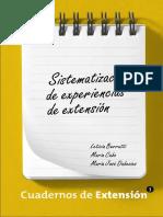 Cuaderno de Extension 3 Sistematizacion de Experiencias de Extension