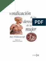 Mary Wollstonecraft - Vindicacion de los derechos de las mujeres.pdf