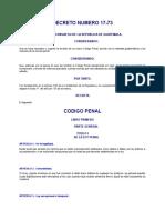 1. Codigo Penal Decreto 17-73