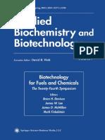 (Applied Biochemistry and Biotechnology) Bonnie R. Hames, Steven R. Thomas, Amie D. Sluiter, Christine J. Roth (Auth.), Brian H. Davison, James W. Lee, Mark Finkelstein, James D. McMillan (Eds.)-Biote