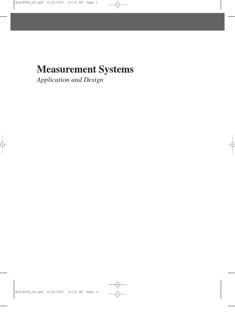 Doebelin Measurement Systems Application And Design Pdf