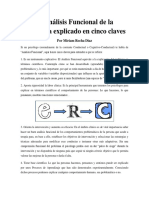 El Análisis Funcional de La Conducta Explicado en Cinco Claves