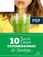 10 Sucos Detox Exterminadores de Gordura