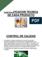 Especificacion Tecnica de Cada Producto
