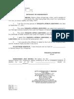 Affidavit of Discrepancy Lademora