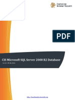 CIS Microsoft SQL Server 2008 R2 Database Engine Benchmark v1.2.0