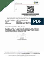 GTU Carta de Buena Conducta A