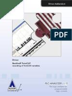 PLC-Driver (V5) Beckhoff TwinCAT - Recording of TwinCAT-Variables