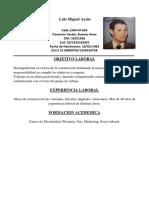 CV Luis Miguel