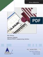 PLC-Driver (V5) Siemens LOGO! - Ethernet TCP-IP - Programming Interface