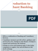 Chp 1 - Introduction to Merchant Banking