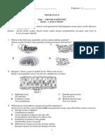 Tingkatan 4 Biologi Kertas 1