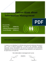 WHAT EXECUTIVE THINKS ABOUT INFORMATION MANAGEMENT