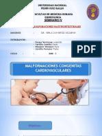 Semianrio-malformaciones Congénitas Cardivasculares