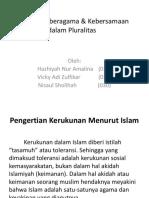 Kerukunan beragama & Kebersamaan dalam Pluralitas.pptx