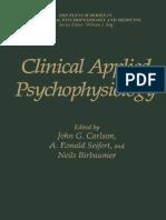 Clinical Applied Psychophysiology - Carlson, j., Seifert, r. & Birbaumer, n