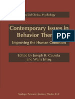 Contemporary Issues in Behavioral Therapy - Cautela, j. & Ishaq, w