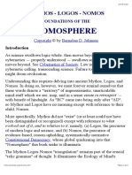 Johnson, Barnabas D. (-) Mythos - Logos - Nomos - Foundations of the Nomosphere