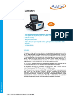 Additel 761 Pressure Calibrator Data Sheet