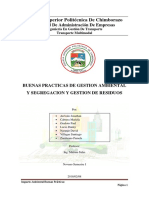 Buenas Precticas de Gestion Ambiental y Segregacion y Gestion de Residuos