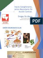 Fármacos Ganglionares y Relajantes Musculares de Acción Central. Drogas de Abuso