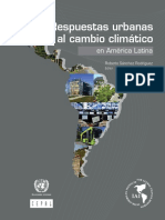 Respuestas Urbanas Al Cambio Climático- Cepal