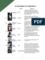 List of Nobel Laureates in Literatur1