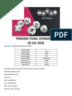 Mamadewa - Prediksi Togel Hongkong 03 Jul 2018