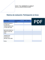 Rublica de Evaluacion de Foros