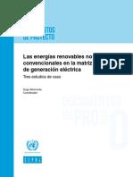 Energias Renovables No Convencionales en La Matriz de Generacion Electrica