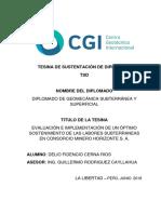 Tesina (TSD) Diplomado de Geomecánica - Delio Fidencio CERNA RIOS