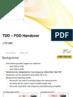 Lte1060 Tdd - Fdd Handover